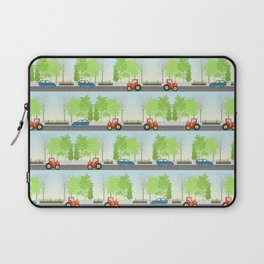 Cars and trees pattern Laptop Sleeve