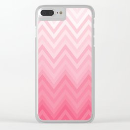 Fading Pink Chevron Clear iPhone Case