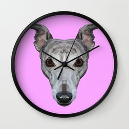 Whippet // Lilac Wall Clock
