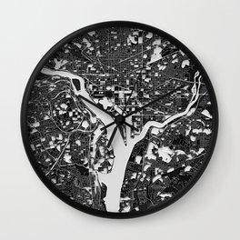 Washington, D.C. – Abstract Map Wall Clock