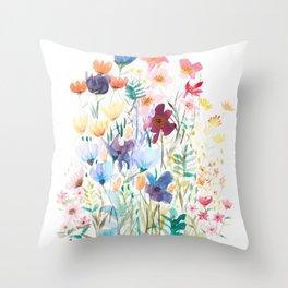 Botanic Floral 2 Throw Pillow
