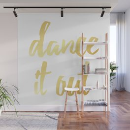 Dance It Out- Gold Wall Mural