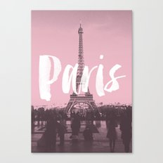 Pink Paris Eiffel Tower Canvas Print