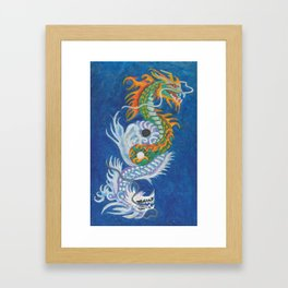 Two Dragons Face Right Framed Art Print