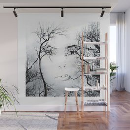 face in the trees Wall Mural