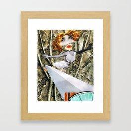 bird - collage Framed Art Print