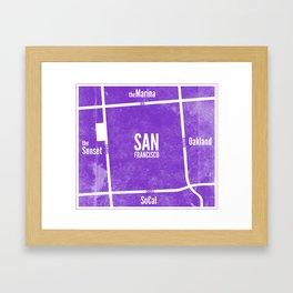 This is SF (Purple) Framed Art Print