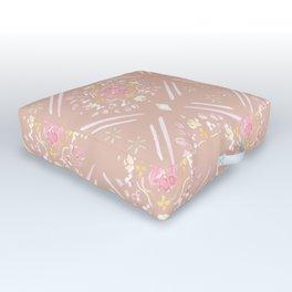 Global Motifs in Pale Outdoor Floor Cushion