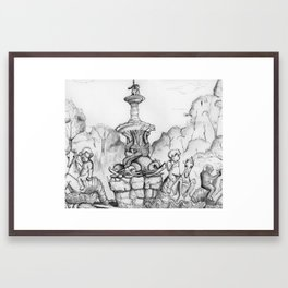 Bronx Zoo: Rockefeller Fountain Framed Art Print