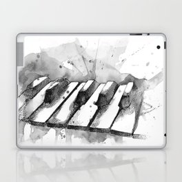 Watercolor Piano (Grayscale) Laptop & iPad Skin