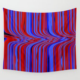 red and blue flowing Wall Tapestry