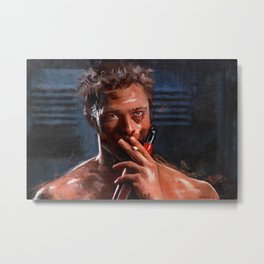 Tyler Durden - Leading Project Mayhem Metal Print