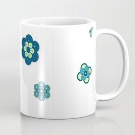 Beach Blue Flowers Coffee Mug