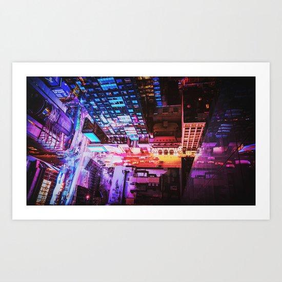 New York City Blade Runner Art Print
