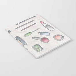 MAKE-UP - pencil and coloured pencil illustration Notebook