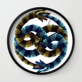The Never Ending Sand Worm Wall Clock