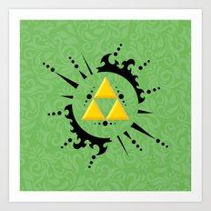 Triforce Zelda Art Print