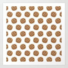 Chocolate Chip Cookies Pattern Art Print