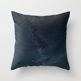Blue Galaxy Throw Pillow