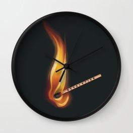 Fire match revolution  Wall Clock