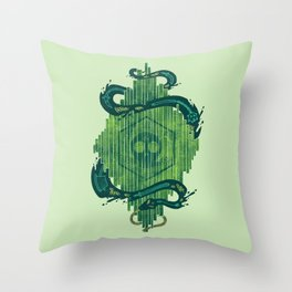 Green is the Color of Death Throw Pillow