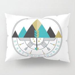 Start Your Journey Badge Pillow Sham