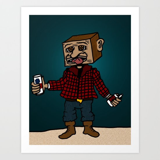 Mr Block, where does your paycheck go? Art Print