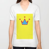 crown V-neck T-shirts featuring CROWN by ^NHRK