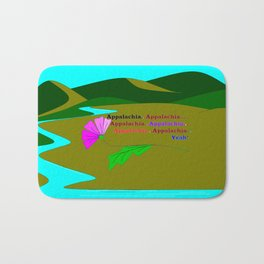 My Colorful and True Ode to Beautiful Appalachia! Bath Mat