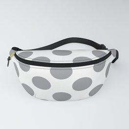 Grey Large Polka Dots Pattern Fanny Pack