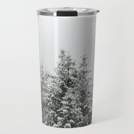Winter Forest Fir Tree Snow III - Nature Photography Travel Mug