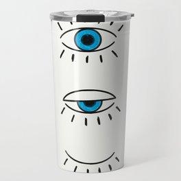 Summer Evil Eyes Travel Mug