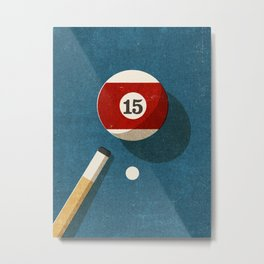 BILLIARDS / Ball 15 Metal Print