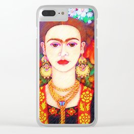 My other Frida Kahlo with butterflies Clear iPhone Case
