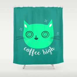 High Kitty Shower Curtain