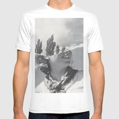 Head in the Clouds White Mens Fitted Tee MEDIUM
