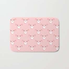 Cute Pink Pig face Bath Mat
