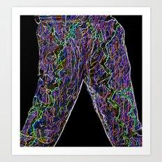 Neon Trousers Art Print