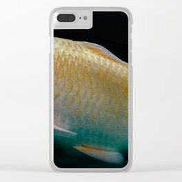 A lucky golden colored carp/Nishikigoi(Japanese Colored Carp) Clear iPhone Case