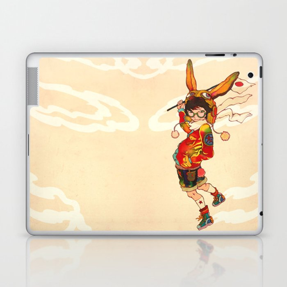 The land of the rising zine Laptop & iPad Skin