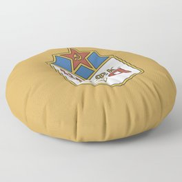 Cska Football old 70s  badge. For soccer lovers. Sports collection. Floor Pillow