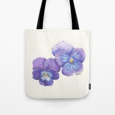 Purple Pansies Tote Bag