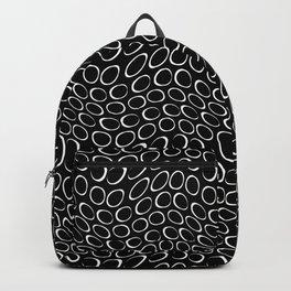 Black And Whtie Irregular Circles Minimalist Pattern Backpack