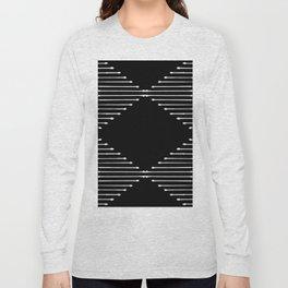 Geo / Black Long Sleeve T-shirt