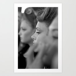 BOKEH BACKSTAGE MODELS Art Print