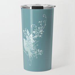 Flower Bird Travel Mug