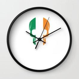 Awesome Irish Skull St. Patrick's St Patty's Day Wall Clock