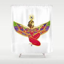 Winged Isis w/Eye of Horus Shower Curtain