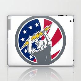 American Electrician USA Flag Icon Laptop & iPad Skin