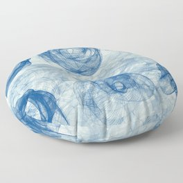 BI Nr1 blue Floor Pillow